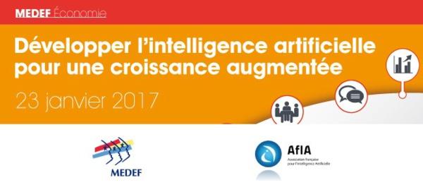Développer l'intelligence artificielle pour une croissance augmentée : lundi 23 janvier 2017