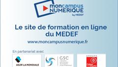 """Le MEDEF lance """"Mon Campus numérique"""""""